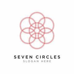 Geometric Ornaments Circle Logo Icon