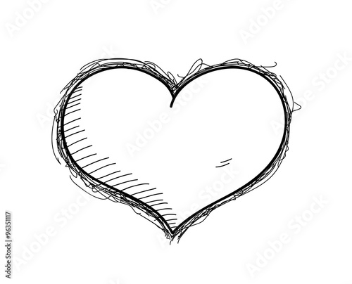 Heart Doodle A Hand Drawn Vector Doodle Illustration Of A Heart