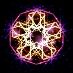 Mystic shiny star with sparkles