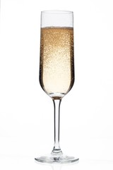 champagne flute full of champagne