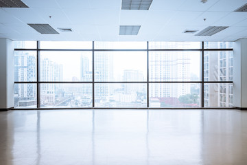 empty office space with large window Wall mural