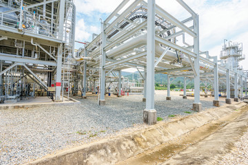 equipment,pipeline and tank of oil refinery plant