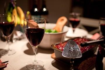 close up shot of wine glass