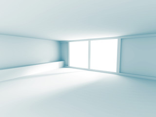 Empty Room Interior White Background