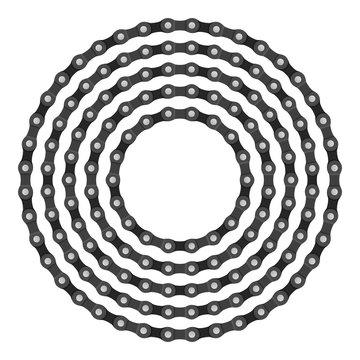 Bike chain circle