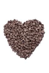heart shape made of chocolates