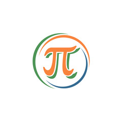 sign pi in a circle