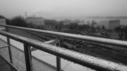 View on Samara city in rainy day, Russia
