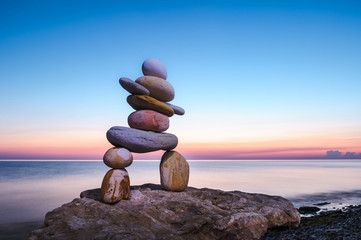 Figurine of Inukshuk of pebbles