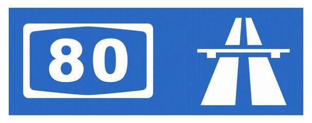 A 80-Symbol mit Reflektierung