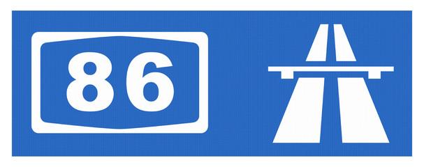 A 86-Symbol mit Reflektierung