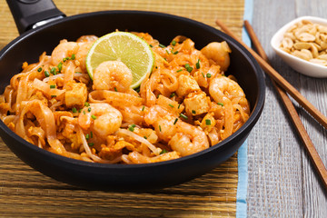 Pad Thai. Thailand's national dishes, stir-fried rice noodles