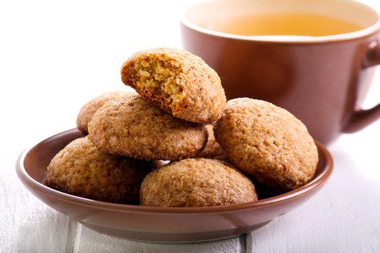 Honey spicy cookies on plate