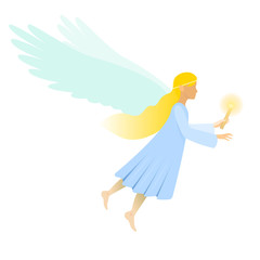 female angel with candle