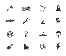 Active receration simply icons