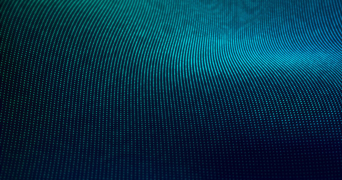 Futuristic Particles Wave Abstract Background - Creative Design Element.