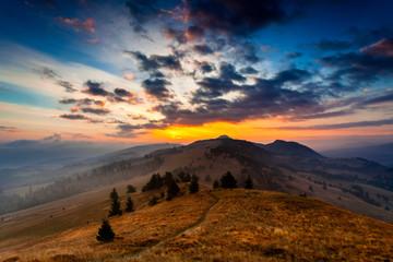 Wonderful sunrise landscape