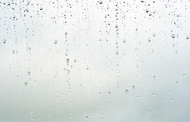 Drops of rain on glass background
