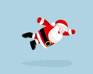 Super Santa Claus is flying