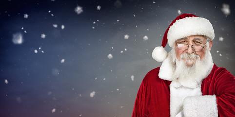 portrait of authentic Santa Claus