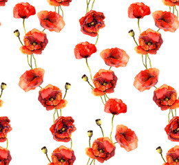 Vintage floral background with poppies