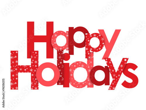 happy holidays red vector letters with snowflakes stock image and rh fotolia com happy holidays vector graphics happy holidays vector clipart