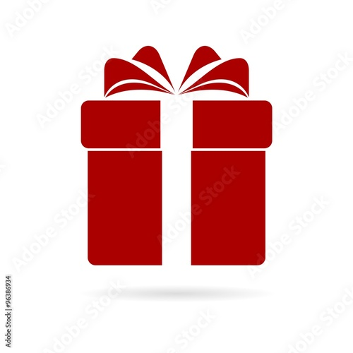 Gift Box Icon Red : Quot red gift box icon stock image and royalty free vector