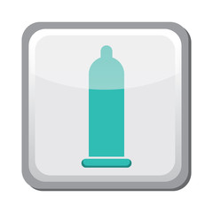 Contraception method icon, condom, family and parenthood, pregnancy - vector