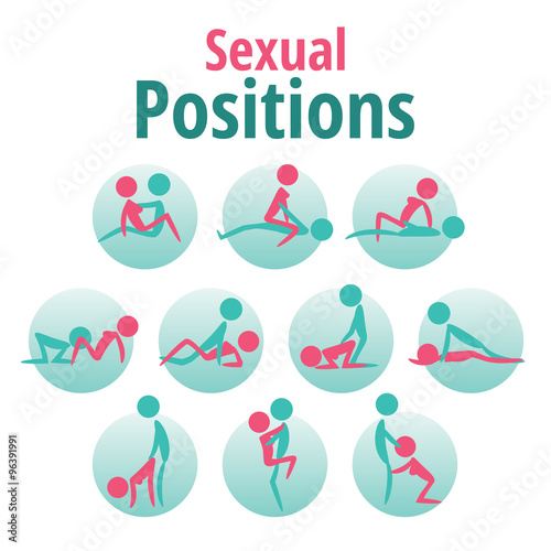 Infographics Vector Template Sexual Positions Kama Sutra