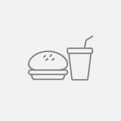 Fast food meal line icon.