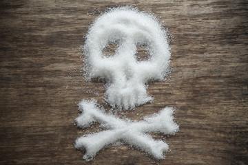 unhealthy white sugar concept Wall mural