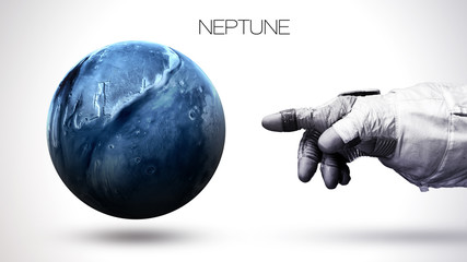 Wall Mural - Neptune - High resolution best quality solar system planet. All the planets available. This image elements furnished by NASA