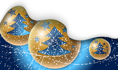 Vector background with Christmas tree and falling snow
