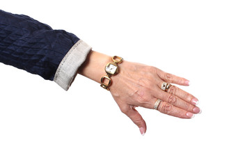 Hand with watch