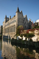 Castle of Gerald Devil in Ghent. Belgium
