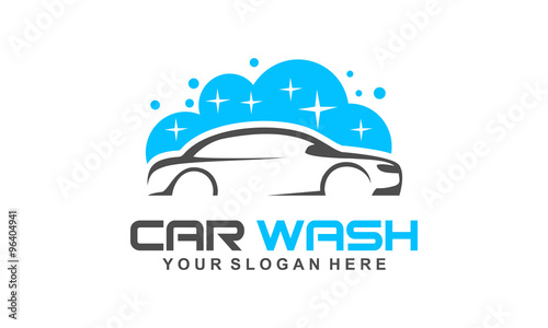car wash logo, modern car wash and professional automotive vector