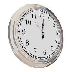 Clock Face Isolated Time Passing Hours Minutes Seconds Moment No
