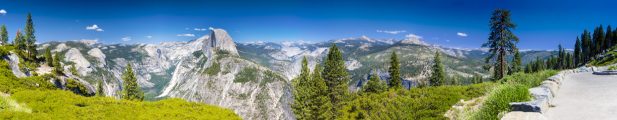 Yosemite National Park Panorama Taken from Observing Point. California,USA