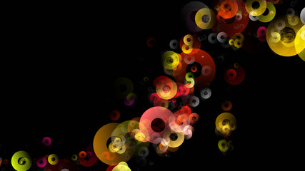 abstract elegant circle background design illustration with space for your text