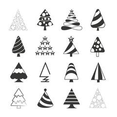 Christmas tree icons