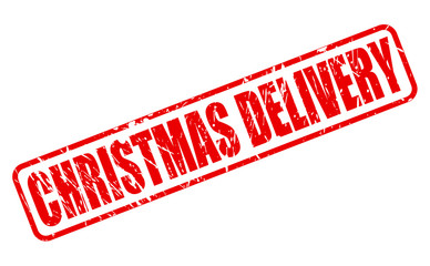 CHRISTMAS DELIVERY red stamp text