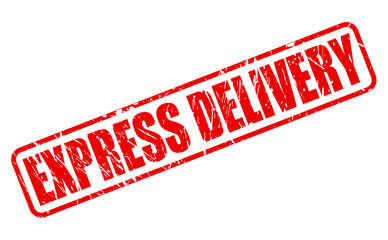 EXPRESS DELIVERY red stamp text