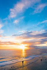 Sunrise, sea, seascape. Okinawa, Japan.