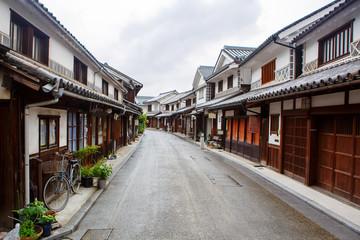 Kurashiki city, old japanese town in Okayama prefecture