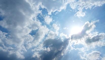 The sun on cloudy sky #2