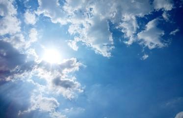 The sun on cloudy sky #1