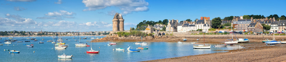 English Cnannel lagoon by St Malo, Brittany, France