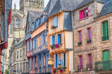 Wall Mural - Old town of Quimper, Brittany, France