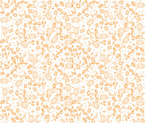 Seamless pattern.On the subject of what to buy in Internet