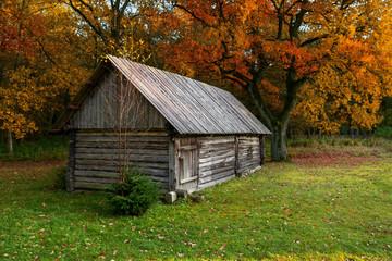 shed in the Estonian farm